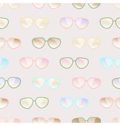 Seamless pastel pattern of sunglasses vector image