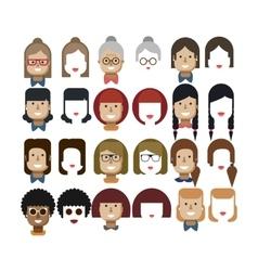 set avatars female faces design vector image vector image