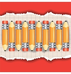 Set of the pencils vector image