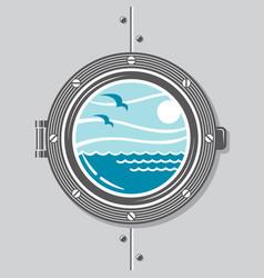 ship porthole image vector image