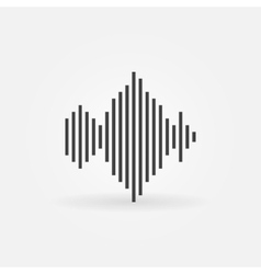 Sound wave icon or logo vector image