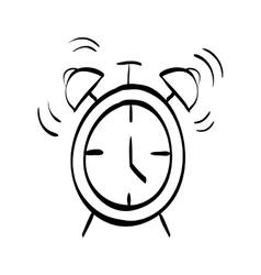 Time alarm clock vector