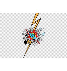 vs against versus isolate pop art background vector image