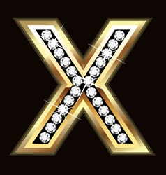 x bling vector image