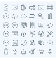 Line coding icons vector