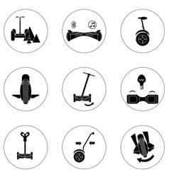 Gyroscope icons in a simple style element vector