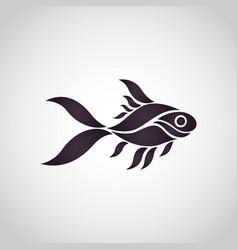 Goldfish logo icon vector