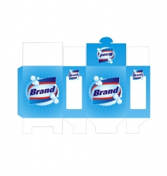 Detergent box template vector