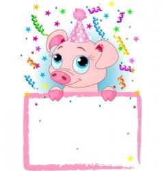 Piglet birthday vector