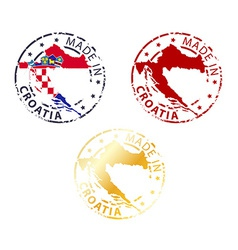 Made in croatia stamp vector
