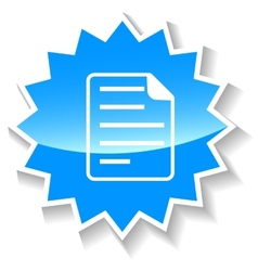 Document blue icon vector