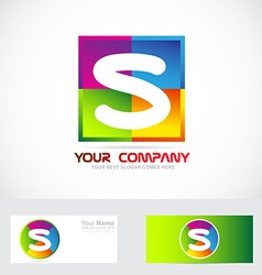 Letter s logo colors vector