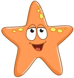 Cute starfish vector