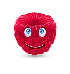 Cartoon raspberry vector