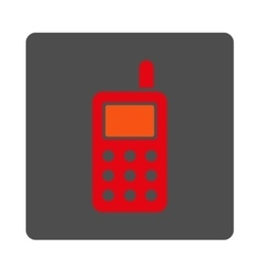Cell Telephone Rounded Square Button vector image