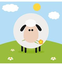 Sheep on a Farm Backdrop vector image