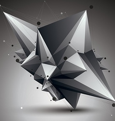 Abstract asymmetric monochrome object with black vector
