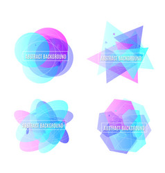 Abstract geometric vector