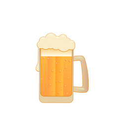 beer mug isolated on white flat style vector image