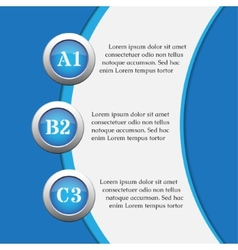 Blue infographics banners - design templates vector