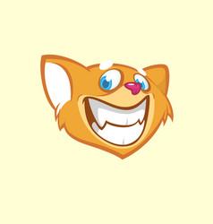 cartoon chipmunk head vector image vector image