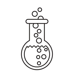 chemistry flask icon vector image