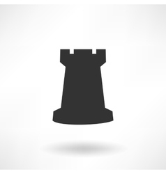 Chess Rook Icon vector image vector image