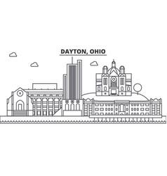 Dayton ohio architecture line skyline vector