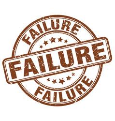 Failure brown grunge stamp vector