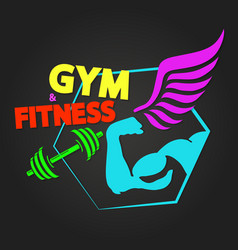 fitness and gym vector image