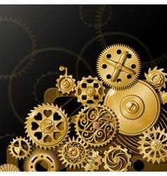 Golden gears composition vector