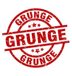 grunge round red grunge stamp vector image vector image