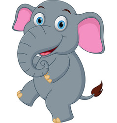 happy elephant cartoon dancing vector image