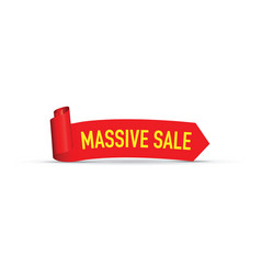 Massive red sale sign vector
