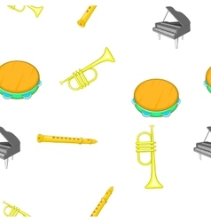 Musical tools pattern cartoon style vector