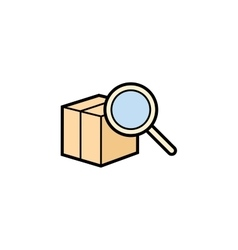 Parcel delivery service vector image vector image
