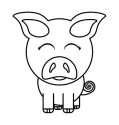 Pig animal farm isolated icon vector