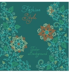 Red and green floral pattern vector