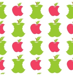 Seamless pattern with green and red apples vector image vector image