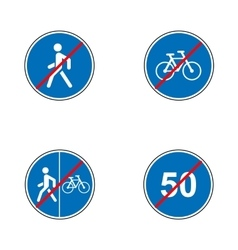 Set of road signs Signboards Collection of vector image vector image