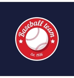 Vintage color baseball championship logo or badge vector
