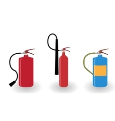 Red and blue fire extinguisher isolated on white vector