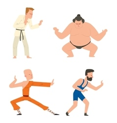 Fighters people set vector