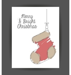 Boot decoration for christmas season vector
