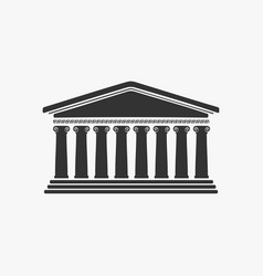 Greece facade historic building vector
