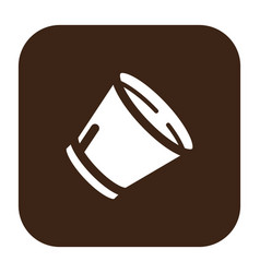 flat color dog cone icon vector image