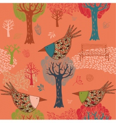 autumn park background vector image