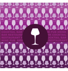wine glass background vector image