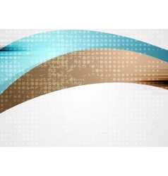 Vibrant wavy abstract corporate background vector image