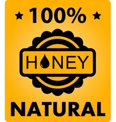 Natural honey background vector